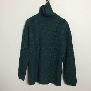 J. Crew • Vintage Chunky Knit Turtleneck Sweater